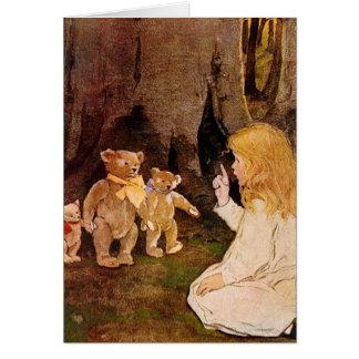Goldilocks and the Three Bears Card