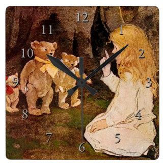 """Goldilocks and the Three Bears"" Clocks"