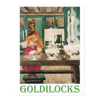 Goldilocks and the Three Bears Postcard