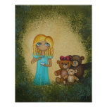 Goldilocks and Three Bears Art Poster