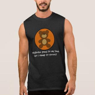 Goldilocks hizo pis en mi oso gay de la cama camiseta sin mangas