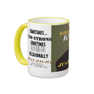 GOLDILOCK'S NKOWS RINGER COFFEE MUG