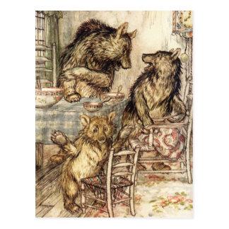 Goldilocks y la postal de tres osos