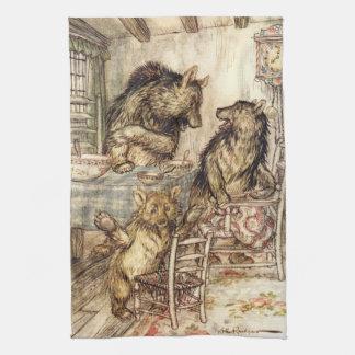 Goldilocks y la toalla de cocina de tres osos