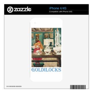 Goldilocks y los tres osos iPhone 4S calcomanías