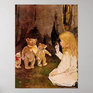 """""""Goldilocks y los tres osos"""" Póster"""