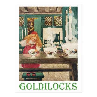 Goldilocks y los tres osos postal