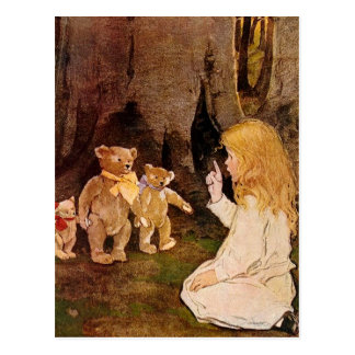 Goldilocks y los tres osos tarjeta postal