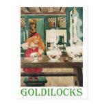 Goldilocks y los tres osos tarjetas postales
