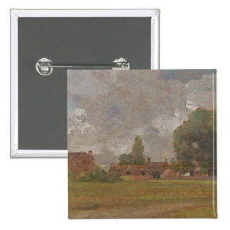 Golding Constable's House, East Bergholt: The Arti 2 Inch Square Button