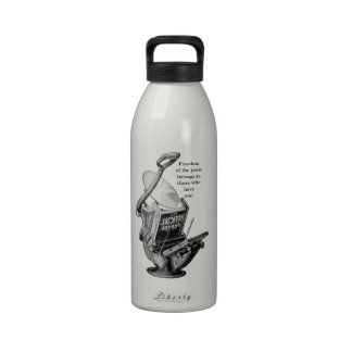Golding letterpress printing press water bottle