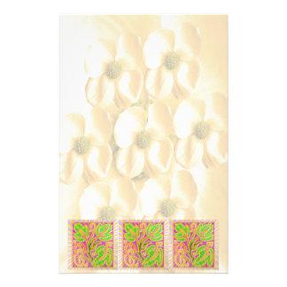 GoldLeaf Jewel Pattern : Flower Base Stationery