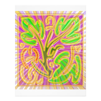 GoldLeaf Jewel Pattern : Metallic Look Colors Letterhead