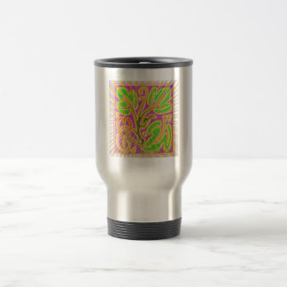 GoldLeaf Jewel Pattern : Metallic Look Colors 15 Oz Stainless Steel Travel Mug