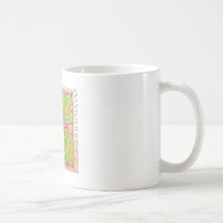 GoldLeaf Jewel Pattern : Metallic Look Colors Classic White Coffee Mug