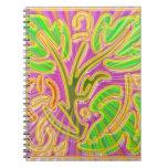 GoldLeaf Jewel Pattern : Metallic Look Colors Notebook