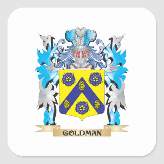 Goldman Coat of Arms - Family Crest Square Stickers