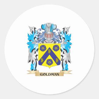 Goldman Coat of Arms - Family Crest Sticker