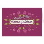Goldman ~ Emma Goldman Famous USA Women Greeting Card