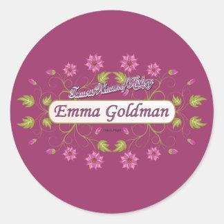 Goldman ~ Emma Goldman Famous USA Women Round Stickers
