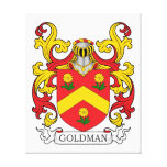 Goldman Family Crest Stretched Canvas Print