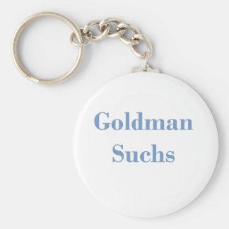 Goldman Suchs Text Basic Round Button Keychain