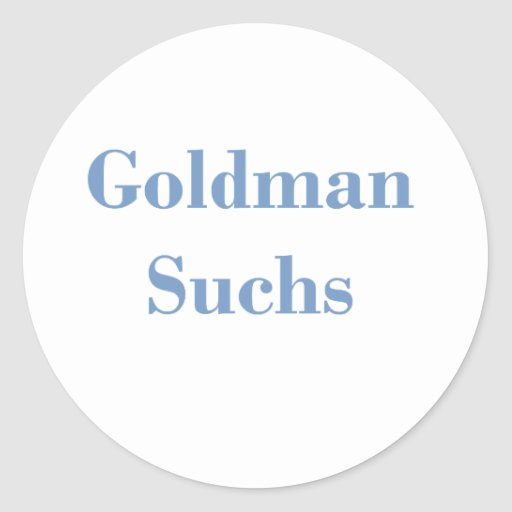 Goldman Suchs Text Classic Round Sticker