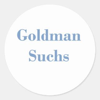 Goldman Suchs Text Round Stickers