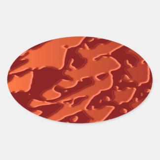 Goldmind Stone Waves Oval Sticker