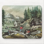 Goldmining in California, 1871 Mouse Pad