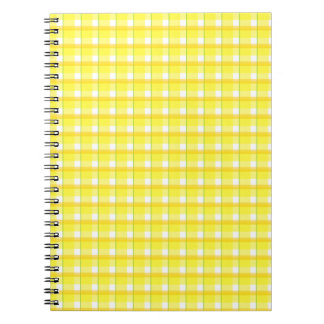 Golds and Yellow Plaid Checks Notebook