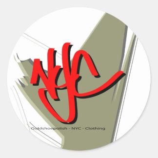 Goldshoepolish - NYC - ropa Pegatinas Redondas