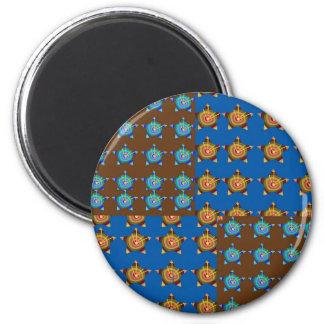 GoldSTAR BlueSTAR Decorations: by NAVIN Joshi 2 Inch Round Magnet
