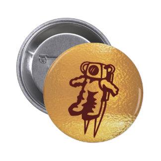 Goldstar, estrella, órbita, robot: Joshino Gozzlo Pin Redondo 5 Cm