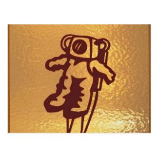 Goldstar, estrella, órbita, robot: Joshino Gozzlo Tarjetas Postales