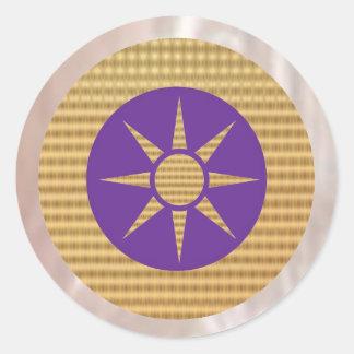 Goldstar on Havenly Purple Classic Round Sticker