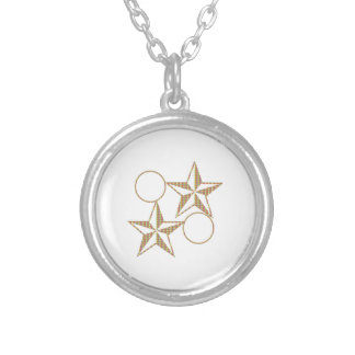 GoldStar Pair TWIN Couple Silver Plated Necklace