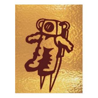 GoldStar, Star, Orbit, Robot : Joshino Gozzlo Postcard