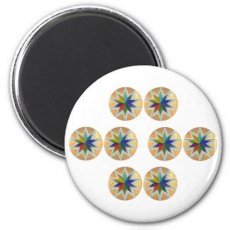 GoldStar SuperStar BrilliantStar ShiningStar 2 Inch Round Magnet