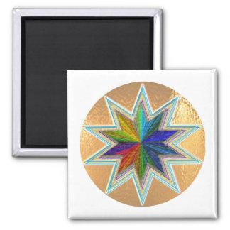 GoldStar SuperStar BrilliantStar ShiningStar 2 Inch Square Magnet