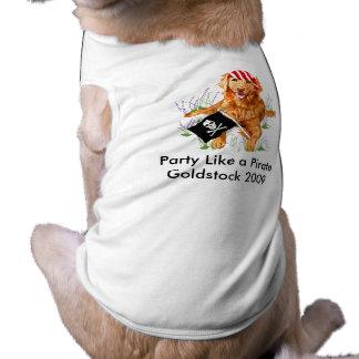 Goldstock Pirate Shirt Dog Tee
