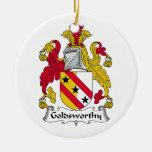 Goldsworthy Family Crest Christmas Tree Ornament