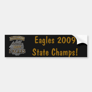 Goldthwaite Eagles 2009 Texas State Champions! Car Bumper Sticker
