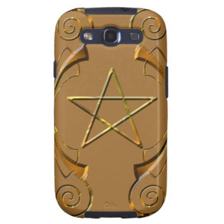 Goldtone Pentacle Galaxy SIII Cover