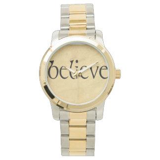 Goldtone watch