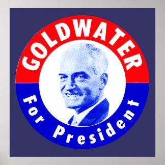 Goldwater 1964 para el presidente poster