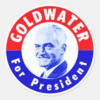 Goldwater 1964 para el presidente pegatina redonda
