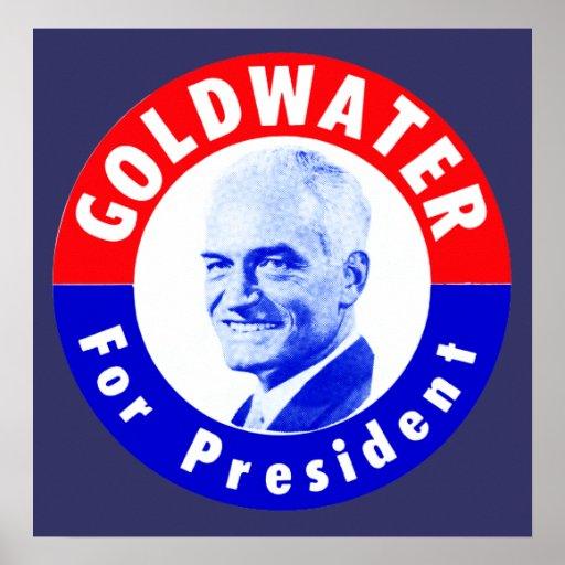 Goldwater 1964 para el presidente póster