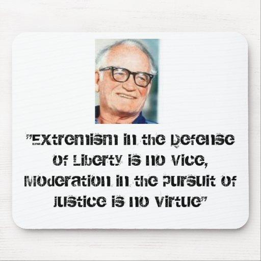 """goldwater, """"extremismo en la defensa de la liberta alfombrilla de ratones"""