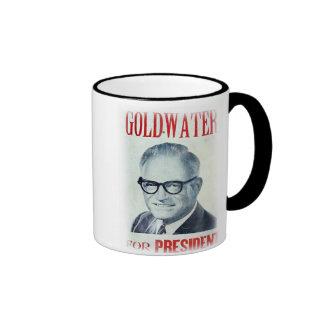 Goldwater para el presidente taza de dos colores